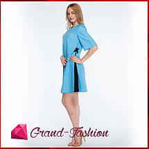 """ПЛАТЬЕ """"Granta"""" - цвет голубой, фото 3"""