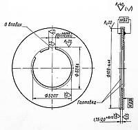 Фрикционный диск 1М63.21Э.387  8 шлиц. (внутренний)