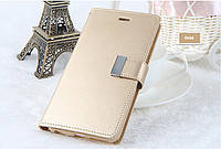 Книжка Goospery Rich Diary Wallet Case Xiaomi Redmi 4 Gold, фото 2
