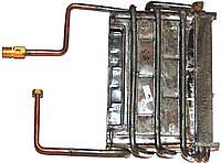 Теплообменник газовых дымоходных колонок Selena E-3 (накидная гайка), артикул 33.4128, код сайта 0702