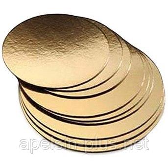 Подложка кондитерская 32 см золото-серебро двухслойная (упаковка 5 штук)