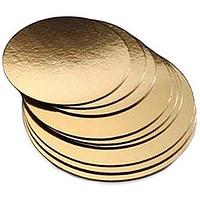 Подложка кондитерская 34 см золото-серебро двухслойная (упаковка 5 штук)