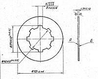 Фрикционный диск 16К20.020.487 (внутренний)