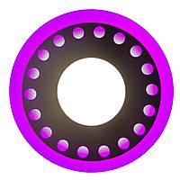 """LED панель Lemanso LM 537 """"Точечки"""" 3+3W с розовой подсветкой 350Lm 4500K 85-265V"""