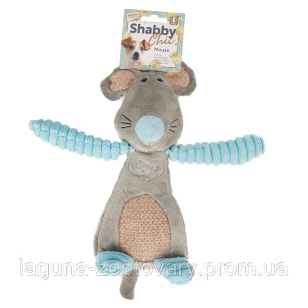 Karlie-Flamingo Shabby Chic Mouse КАРЛИ-ФЛАМИНГО ШЕБИ ШИК МЫШЬ игрушка для собак, с пищалкой