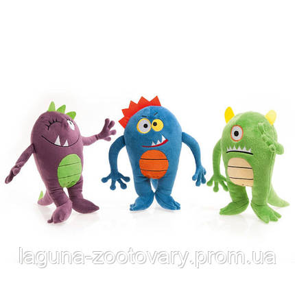 Karlie-Flamingo КАРЛИ-ФЛАМИНГО МОНСТР игрушка 25см для собак, плюш, с пищалкой; зеленый, синий, фиолетовый, фото 2