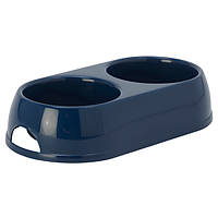 Moderna МОДЕРНА ЭКО двойная миска для собак и кошек, пластик, 2х570 мл, d-12 см