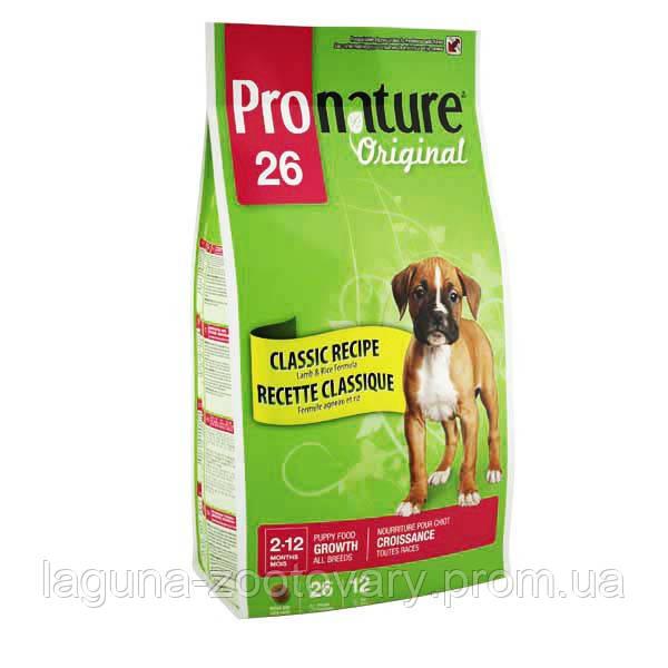 Pronature Original (Пронатюр Ориджинал) ЯГНЕНОК ЩЕНОК с ягненком сухой супер премиум корм для щенков