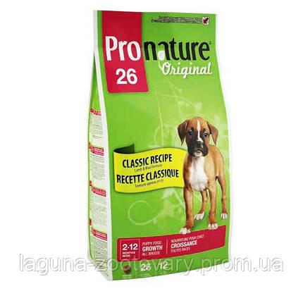 Pronature Original (Пронатюр Ориджинал) ЯГНЕНОК ЩЕНОК с ягненком сухой супер премиум корм для щенков, фото 2