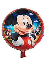 Фольгированный воздушный шар Микки в красных штанах