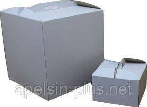 """Коробка для торта картонная 30 см 30 см 25 см белая """"Бабочка"""""""