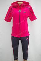 Женский спортивный летний костюм малиновый, фото 1