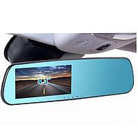 Бесплатная доставка Зеркало заднего вида с регистратором на 2 камеры T1