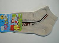 Летние тонкие носки молочного цвета в сетку, фото 1