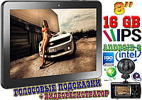Лучший GPS навигатор 8HD на Android 6, Wi FI, Intel, 16 Gb, 8'' + ВИДЕОРЕГИСТРАТОР + карты