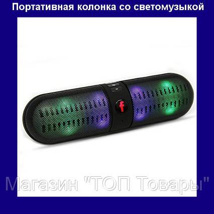 Портативная колонка T808L Bluetooth – беспроводная колонка со светомузыкой!Акция, фото 2