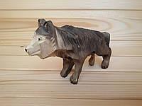 """Сувенирная деревянная статуэтка """"Волк"""""""