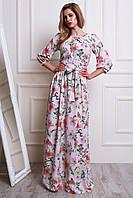 Женское платье в пол из шелк шифона
