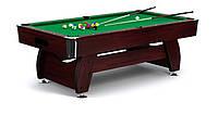 Бильярдный стол игровой, профессиональный VIP Extra 7FT cherry green для дома с доставкой, Львов