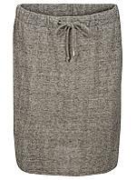 Юбка миди цвета серый меланж с поясом шнуровкой Willimin 2 от Peppercorn (Дания)  в размере М