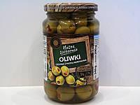Оливки зелёные фаршированные паприкой Nasza spizarnia 340 г., фото 1