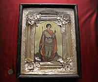 Старинная антикварная икона Георгий Победоносец