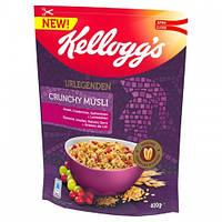Мюсли овсяные Kelloggs Urlegenden Crunchy Müsli с клюквой, изюмом и лёном, 400г