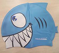 Детская шапочка для плавания Aqua-speed Акула.