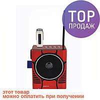 Радиоприемник колонка MP3 Golon RX-188 MIC RED