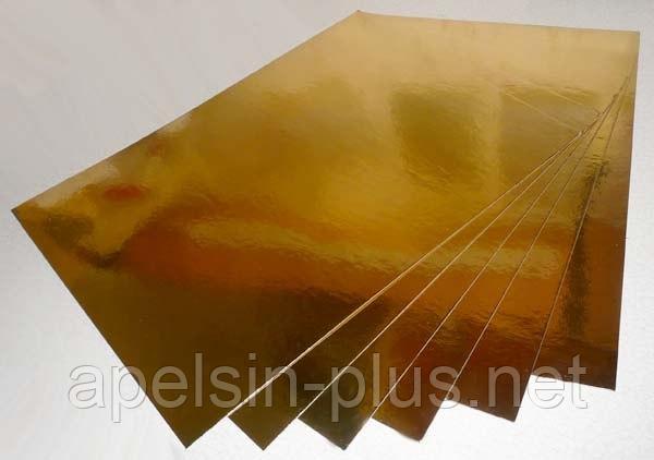 Подложка кондитерская 30 см-30 см золото-серебро двухслойная (упаковка 5 штук)