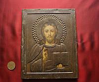 Икона Старинная Вседержатель с книгой