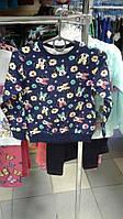 Джемпер синий Минни Маус с цветами 1062