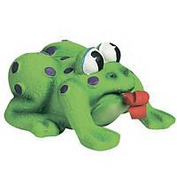 Karlie-Flamingo Frog Pop-Up Tongue КАРЛИ-ФЛАМИНГО игрушка для собак и щенков, лягушка с языком, латекс