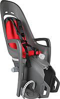Велокресло детское Hamax Zenith Relax на багажник серое/красное