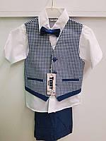 Детский нарядный костюм тройка для мальчика 5-8