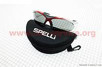 Очки серо-красные + линзы сменные 3к-кт + набор для ухода, в чехле жестком SGL-901
