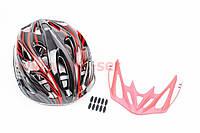 Шлем велосипедный L (59-65 см) съемный козырек, 18 вент. отвер, сист регулир по разм Divider и Run System SRS, SBH-5900
