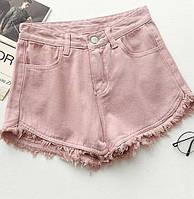 Шорты женские джинсовые американки пудра,стильная женская одежда