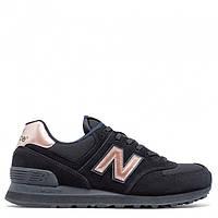 "Женские кроссовки New Balance 574 ""Black With Steel"""