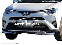 Двойной ус на Toyota Rav4 2016-…, Ø 60*60 мм