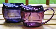 Кружка Casual Cup 550 ml. Цвет синий, фиолетовый.