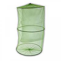 Садок круглый зеленый с мелкой сеткой