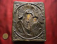 Антикварная старинная икона Казанская Божья Матерь