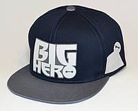 Кепка Big Hero темно-синяя с серым козырьком