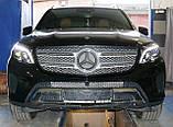 Декоративно-защитная сетка радиатора Mercedes-Benz GLS фальшрадиаторная решетка, бампер, фото 5