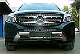 Декоративно-защитная сетка радиатора Mercedes-Benz GLS фальшрадиаторная решетка, бампер, фото 8