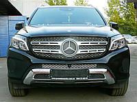 Декоративно-защитная сетка радиатора Mercedes-Benz GLS фальшрадиаторная решетка, бампер