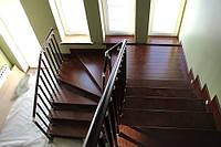 Лестница из ясеня, дуба
