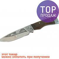 Туристический охотничий нож ручной работы Орел / Висококачественный жаропрочный стальной клинок