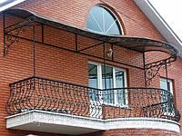 Монтаж перил балконов, лестниц